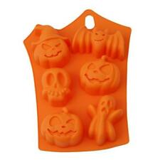 Halloween Pumpkin Chocolate Fondant Cake Cookie Silicone Ice Cube Mould Mold FW