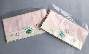 "NEW 4 Vintage At Home Martha Stewart Riverside Desert Shell Pink Napkins 20x20"""