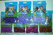 Perler Bead 7x1,000, Purple-Lavender-Pastel Lavendr-Rust-Cranapple-Raspbery-Plum