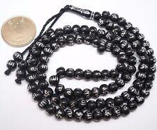99 Islamic Black Color Prayer Beads Tasbih Engraved Allah Prayer Ramadan Muslim