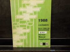 1988 CHEVROLET CELEBRITY ELECTRICAL DIAGNOSIS SERVICE MANUAL SUPPLEMENT (G302)