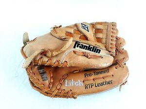 """Franklin RTP Left Hand Throw Leather Pro Tanned Youth Baseball Glove 11"""" 4640"""