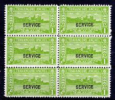 Travancore-Anchel Indian Feudal State SG096d P11 1941-2 mint [T10812]