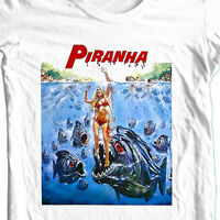 Piranha T-shirt retro 70's horror movie old style gore film free shipping