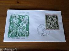 FRANCE 1968, FDC 1° JOUR SCULPTURE BOURDELLE LA DANSE, ART timbre 1569, PAINTING
