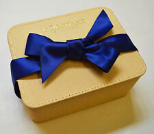 L'Occitane Gold Fabric Jewelry / Trinket Box with Ribbon Fastening New
