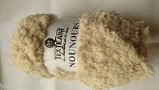 10 pelotes de laine nounours hyper douces  -   couleur beige clair