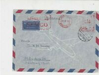 Egypt 1958 Airmail to Germany Port-Said Cancel Stamps Cover  ref R18583
