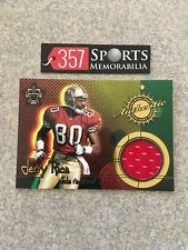 2000 PACIFIC VANGUARD JERRY RICE AUTHENTIC GAME USED JERSEY HOF SWATCH 49ERS