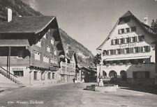 AK Wassen. Dorfplatz mit Cafe Gotthard und Post Hotel