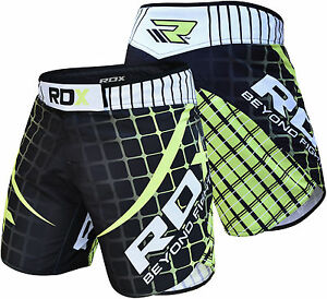 RDX MMA Shorts Grappling Kick Boxing Short Mens Muay Thai Gym Wear Green AU