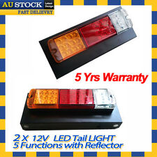 2x 12V LED Cab 4 way Stop Tail Lights for Toyota Landcruiser Hilux UTE with Tray