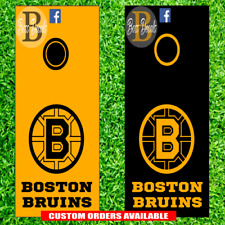 Boston Bruins Corn hole Decal Set of 6 Vinyl Decals Stickers nhl cornhole boards