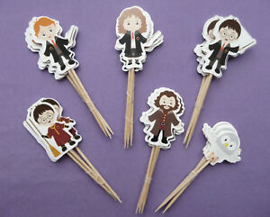 HARRY POTTER Wizard CAKE TOPPERS PICKS Childrens birthday party choose no