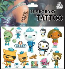1x Octonauts Temporary Tattoo Sheet Children Kids Birthday Party Bag Filler
