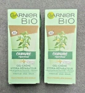 GARNIER BIO soin gel crème réparateur à l'huile de graines de chanvre 2 x 50 ml