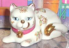 New ListingFranklin Mint Satsuma Curio Cat Gold Floral Butterflies Kitty 1988 Figurine