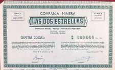 Mexique 1946 Action Mexico Républica Mexicana Compania Minera Las dos Estrellas