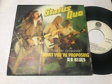 "STATUS QUO SPANISH 7"" SINGLE SPAIN VERTIGO 80 WHAT YOU`RE PROPOSING ROCK N ROLL"