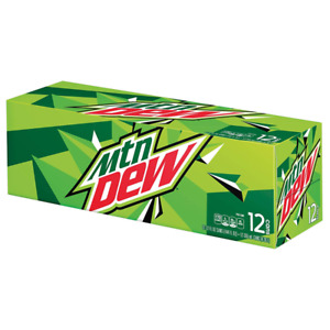 Genuine Mountain Dew Original American 12 Crate Cans USA Import Cheap