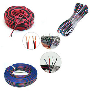 2Pin 4Pin 5Pin 5050 / 3528 RGB RGBW Extension Cable LED Strip Cord Speaker Wire
