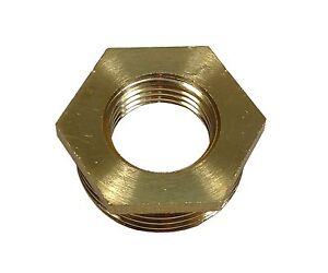 "1"" x 1/2"" BSP Brass Reducing Hexagon Bush | Male to Female"