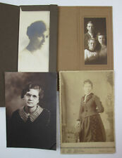 Antique Portrait Photograph Lot Women and Small Group Stafford KS Cabnet Card