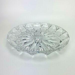 "Colony Celeste Deep Round Platter  11"" Cut Crystal"