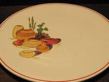 Vintage art Pottery chop plate USA Kitchencraft Mid century