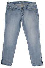 Express Womens Jeans Light Size 12 33x29 Slim Skinny Cotton Denim Low Rise