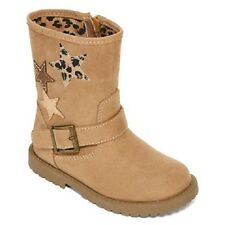 Okie Dokie Girl's Harte Toast Light Tan Brown Star Boots Toddler Girl Size 8 NEW