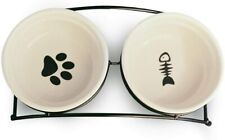 Cat Pet Bowls Personalized Cute Feeder Ceramic Dog Dishes Elevated Food Water
