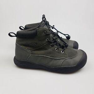 Boy's KEEN 'Jasper Mid Waterproof' Sz 1  US Boots Grey ExCon | 3+ Extra 10% Off
