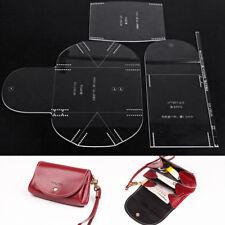WUTA Mini Clutch Handbag Stencil Template Acrylic Leather pattern Craft Tool