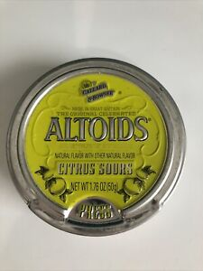 Altoids Sours Curiously Strong Citrus Tin (Discontinued, RARE) Empty