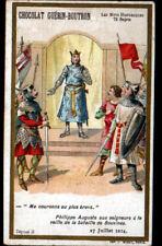 IMAGE CHOCOLAT GUERIN BOUTRON / HISTOIRE / ROI PHILIPPE AUGUSTE en 1214