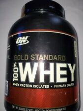OPTIMUM NUTRITION ON 100% WHEY PROTEIN GOLD 5LB Milk Chocolate Exp 01/21
