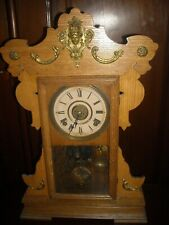 Antique Seth Thomas 8 day wind up kitchen clock  with alarm working No. 298 used