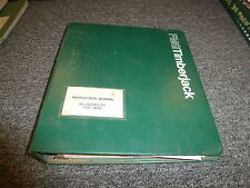 Timberjack 990 Harvester 756B Head Owner Operator Maintenance Manual B436444