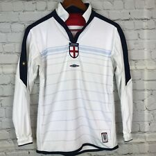 England Official 2003 - 2005 Youth Juniors Reversible Jersey Soccer Umbro Sz LB
