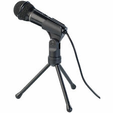 Microphone: Kondensator-Mikrofon mit Stativ für PC und Notebook, 3,5-mm-Klinke