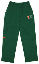Adidas NCAA Men's Miami Hurricanes Team Logo Climalite Woven Pant, Green