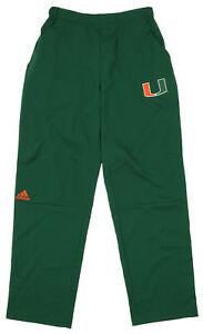 Adidas NCAA Men's Miami Hurricanes Team Logo Climalite Woven Pant, Green