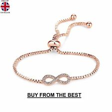 Rose Gold Infinity Friendship Bracelet with Crystals from Swarovski® Wedding