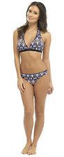 Womens Halter Neck Bikini 2 Piece Tribal Print Summer Beach Swimwear Ladies Size