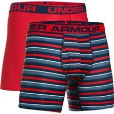Ropa interior Boxer de color principal rojo para hombre con pack