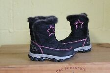 GIRLS TODDLERS BLACK & PINK THINSULATE WINTER SNOW BOOTS SIZE INFANT 6 /22 BY TU
