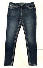 Paisley Sky Jeans Womens Size 8 Stretch Jeans Heavy Stitching & Rhinestones