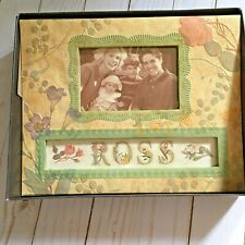 """K & Company Antiquity Floral Frame A Name Photo Album Personalize 10"""" X 8"""" (Cl)"""