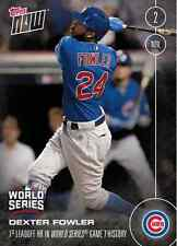 2016 Topps NOW Chicago Cubs Game 7 9-Card Set Bryant Rizzo Ross Fowler Zobrist +